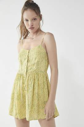 Urban Outfitters Poppy Sweetheart Button-Down Romper