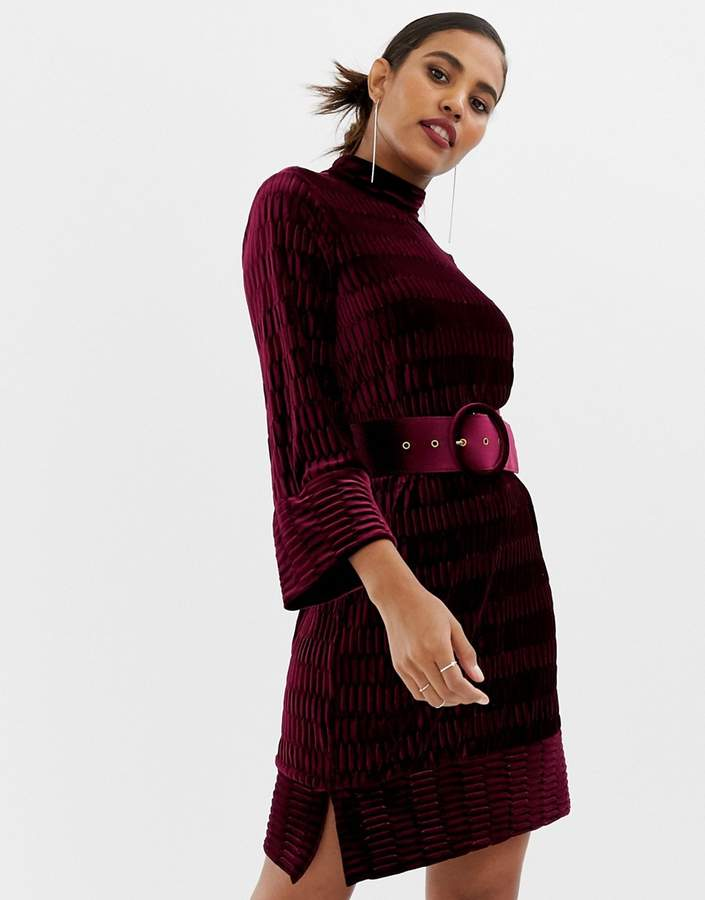 Y.A.S textured high neck dress