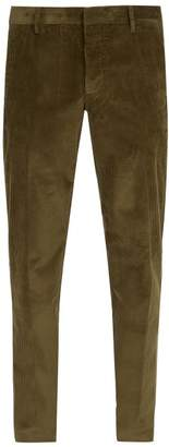 Prada Cotton Corduroy Trousers - Mens - Brown