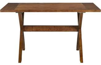 Dorel Living Trestle Wood Dining Table with X-shaped Legs, Dark Pine