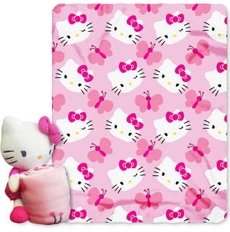 Hello Kitty Sanrio 3D Hugger Pillow & Throw Set