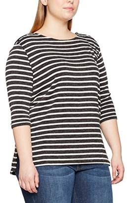 New Look Curves Women's Popper Detail Cut And Sew T - Shirt,(Manufacturer Size: 50)