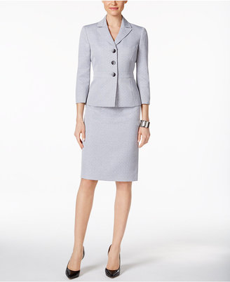 Le Suit Tweed Three-Button Skirt Suit $200 thestylecure.com
