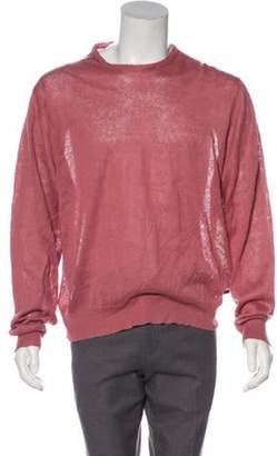 Burberry Linen Crew Neck Sweater pink Linen Crew Neck Sweater