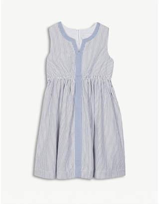 The Little White Company Metallic-stripe summer dress 1-6 years