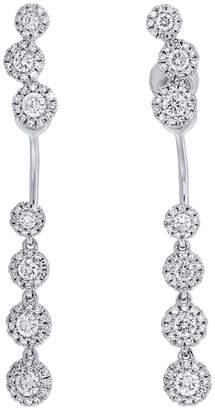 Diana M . Fine Jewelry 14K 0.94 Ct. Tw. Diamond Earring Jacket & Studs