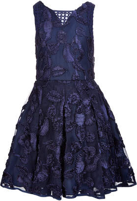 Nanette Lepore Big Girls Soutache Fit & Flare Dress