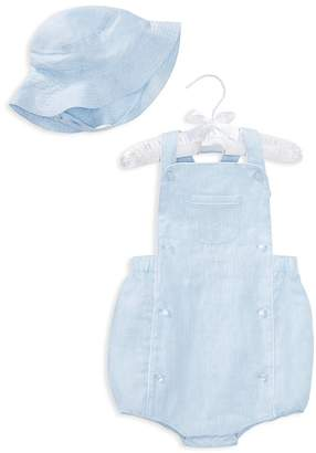 Ralph Lauren Boys' Linen Shortall & Hat Set - Baby