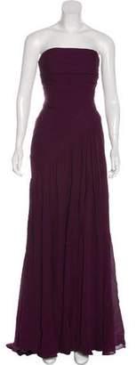 Elie Saab Strapless Silk Gown