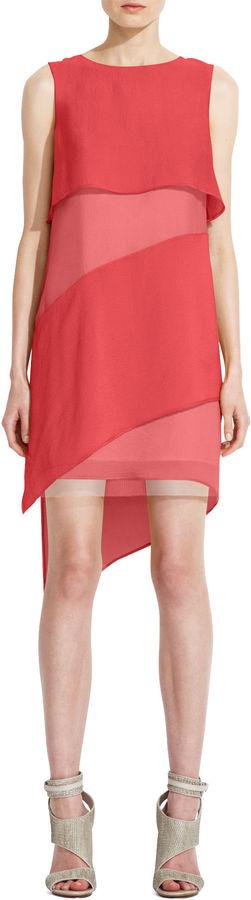 BCBGMAXAZRIA Runway Daria Sleeveless Silk Dress