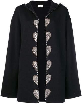 Saint Laurent embellished cardi coat