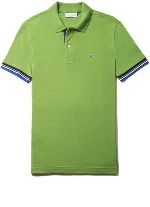 Lacoste Men's Slim Fit Piped Two-Ply Cotton Petit Pique Polo