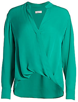 A.L.C. Women's Luca Draped Silk Blouse - Size 0