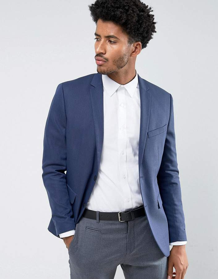 Jack And Jones Jack & Jones Premium Slim Suit Jacket In Texture