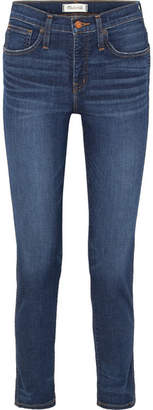 Madewell The Slim Distressed High-rise Jeans - Dark denim