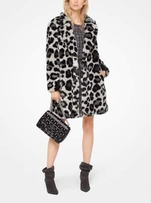 MICHAEL Michael Kors Leopard Faux-Fur Jacquard Coat