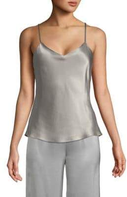 V-Neck Silk Tank Top