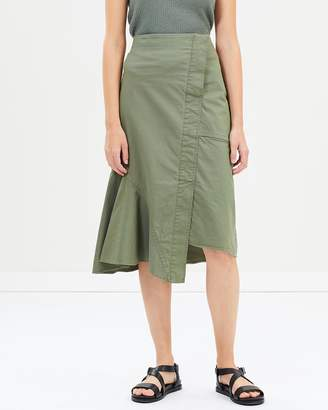 Theory Reconstructed Midi Skirt