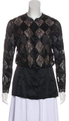 Valentino Satin Lace Top
