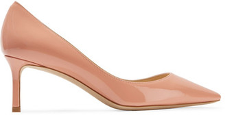 Jimmy Choo - Romy Patent-leather Pumps - Pastel pink $595 thestylecure.com
