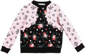 Vivetta Floral Printed Cotton Sweatshirt