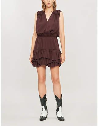 Designers Remix Elda polka-dot sleeveless crepe mini dress