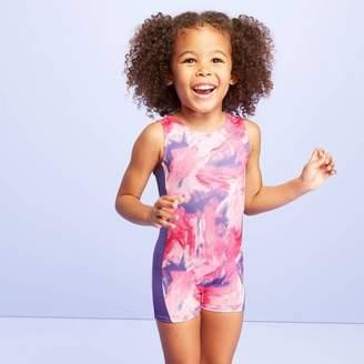More than Magic Toddler Girls' Paint Strokes Biketard - More than Magic Pink