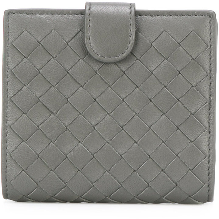 Bottega VenetaBottega Veneta interlaced leather bi-fold wallet