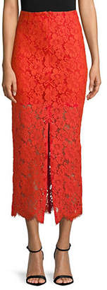 Ganni Jerome Lace Midi Skirt
