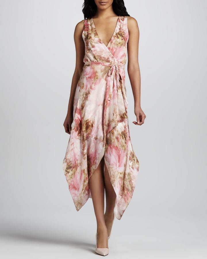Haute Hippie Floral-Print Wrap Dress