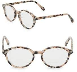 Stella McCartney 51mm Tortoise Shell Round Optical Glasses
