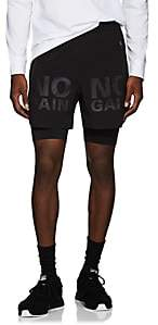 "BLACKBARRETT Men's ""No Pain No Gain"" Compression Running Shorts - Black"