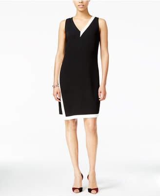 Armani Exchange Colorblocked Envelope Dress $160 thestylecure.com
