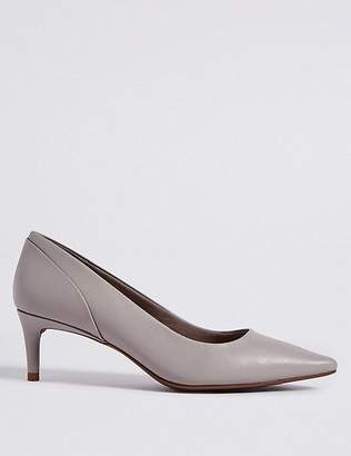 Marks and Spencer Kitten Heel Pointed Toe Court Shoes