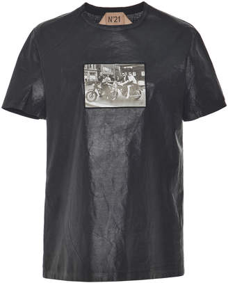 N°21 N 21 Cindy Coated Cotton T-Shirt