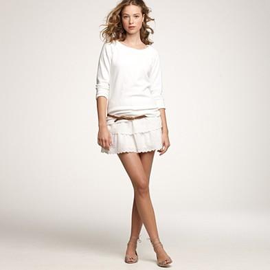 Chambray Eyelet skirt