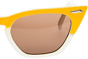 Spitfire Sunglasses The Retro Daxx Sunglasses in White and Yellow