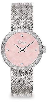 Christian Dior Women's La D De 25MM Pink Satine Watch
