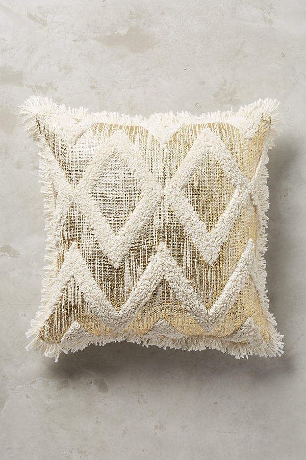 AnthropologieAnthropologie Foil & Fringe Pillow
