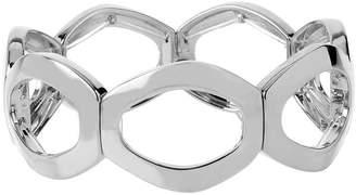 JCPenney Bold Elements Worthington Silver-Tone Openwork Oval Link Stretch Bracelet