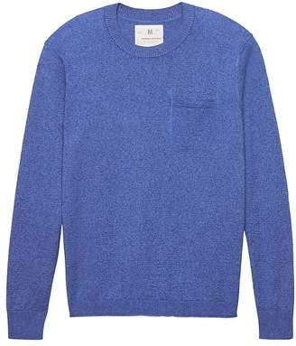 Banana Republic Heritage Italian Stretch-Linen Crew-Neck Sweater