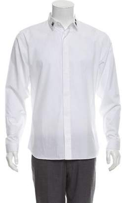 Christian Dior Embellished Button-Up Shirt