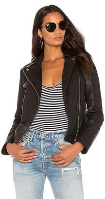 Muubaa Pebble Moto Jacket in Black $594 thestylecure.com