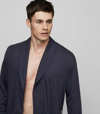 Reiss Our last order date for Christmas has now passed HANRO ROBE HANRO NIGHT & DAY ROBE Navy