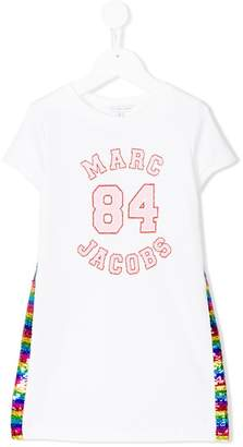 Little Marc Jacobs sequinned sides T-shirt dress