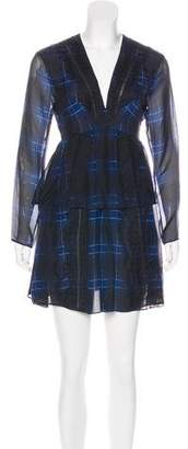 Thakoon Plaid Silk Dress