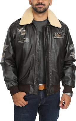 Top Gun House of Leather Mens Real Leather Bomber Aviator Air Force Style Jacket Pilot-N