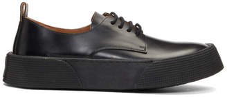 Ami Alexandre Mattiussi Black Derby Low-Top Sneakers
