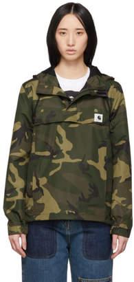 Carhartt Work In Progress Green and Brown Camo Nimbus Pullover Jacket