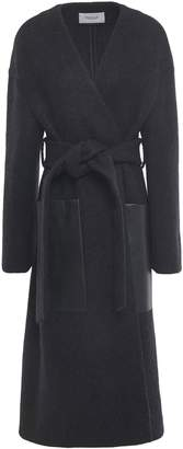 Pringle Leather-trimmed Wool And Alpaca-blend Coat
